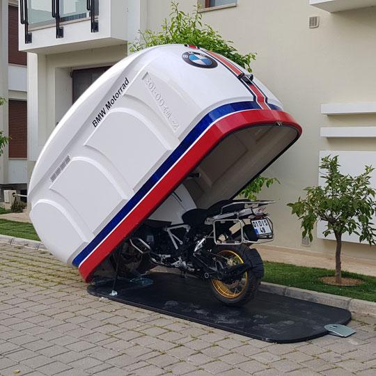 Motokabin tragbare Motorradgarage Modell 1