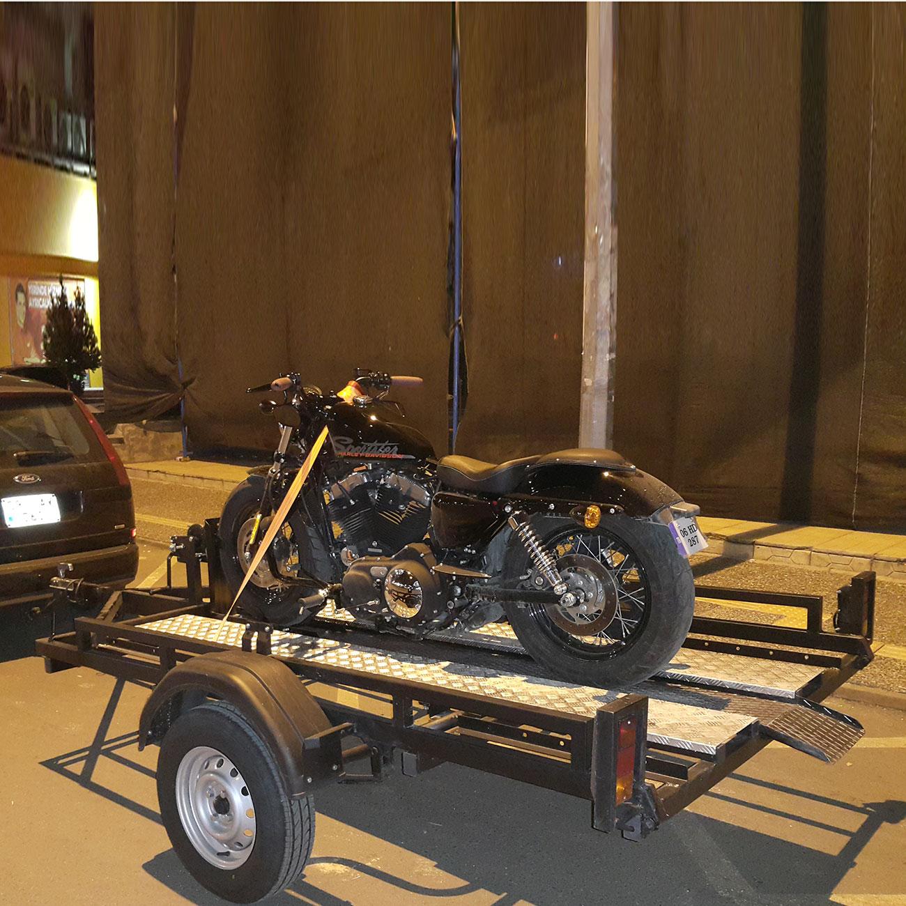 Motokabin Motosiklet Taşıma Römorku Foto Galerileri Resim 1
