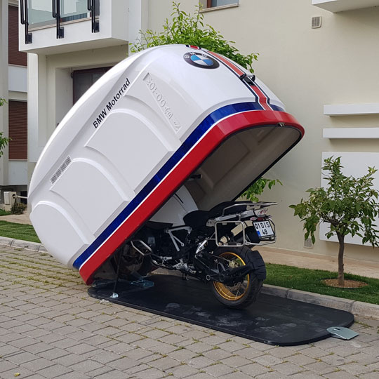 Motokabin Model 1 portatif motosiklet garajı