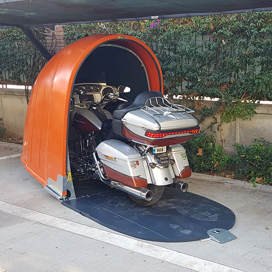 Motokabin Model 2 salyangoz portatif motosiklet garajı